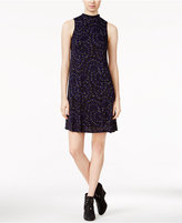 Kensie Eye Of The Storm Printed Mock-Neck Dress
