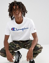 Champion T-shirt With Large Logo In White