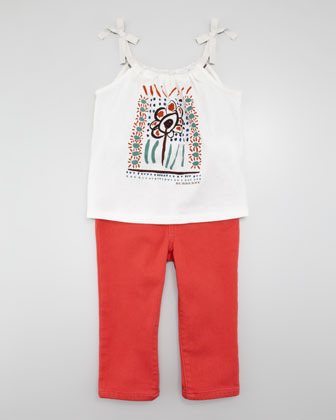 Burberry Colored Jeans, Pomegranate Pink, Kid's Sizes