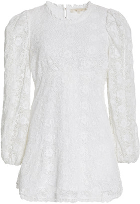 LoveShackFancy Leira Lace Mini Dress