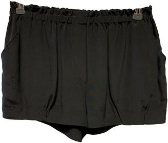 Faith Connexion Black Silk Shorts for Women