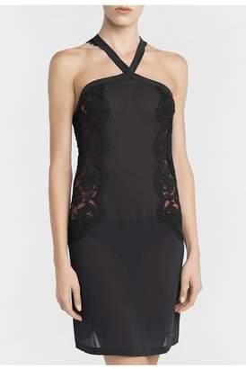 La Perla Lawinia Rose Dark-Gray Lace Short Nightgown
