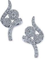 Macy's Diamond Swirl Cluster Stud Earrings (3/8 ct. t.w.) in 14k White Gold