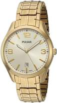 Pulsar Men's PS9488 Analog Display Japanese Quartz Gold Watch