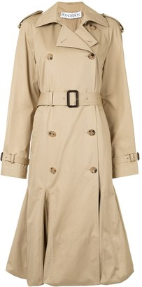 J.W.Anderson Pleated Cape-Style Trench Coat