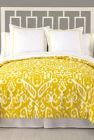 Trina Turk Ikat Queen Duvet - Yellow/White