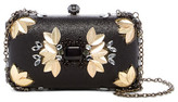 Sondra Roberts Gold-Tone Leaf Jeweled Clutch