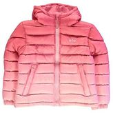 Lee Cooper Kids Gradient Jacket Junior Girls Padded Chin Guard Hooded Full Zip