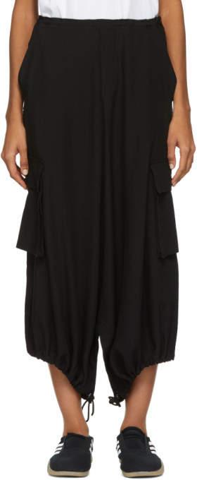 Y's Ys Black Cargo Trousers