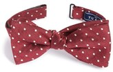 The Tie Bar Dot Silk & Linen Bow Tie