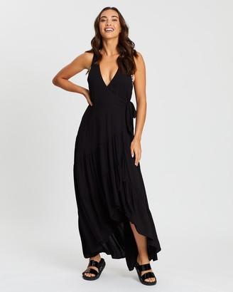 Jets Wrap Maxi Dress