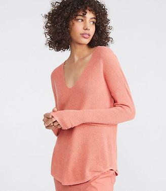 LOFT Lou & Grey V-Neck Shirttail Sweater