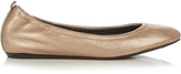 Lanvin Metallic grained-leather ballet flats