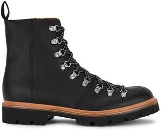 Grenson Brady black leather hiking boots