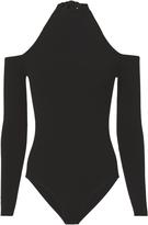 Cushnie et Ochs Tie Neck Cold Shoulder Bodysuit