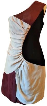 Rue Du Mail Multicolour Velvet Dress for Women