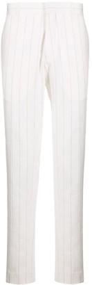 Ann Demeulemeester Pinstripe Cotton Linen Trousers