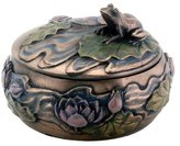Summit Frog Sitting on Lily Decoration Art Nouveau Design Jewelry Box