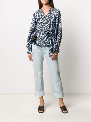 Rag & Bone Rosa distressed mid-rise jeans