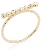 Mizuki 14K Gold Diamond Ring