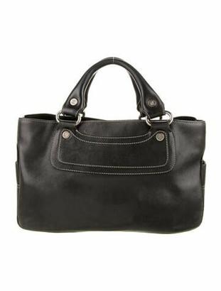 Celine Leather Boogie Bag Black