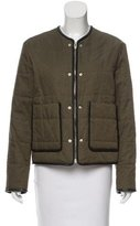 Alexander Wang Leather-Trimmed Distressed Jacket