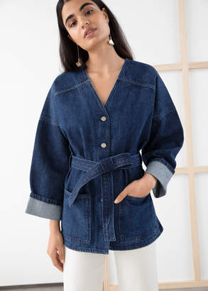And other stories Belted Denim Jacket