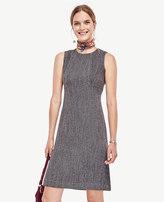 Ann Taylor Petite Tweed Seamed Shift Dress