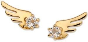 AVA NADRI Gold-Tone Crystal Wing Stud Earrings