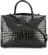 Rochas crocodile texture shoulder bag - women - Goat Skin - One Size