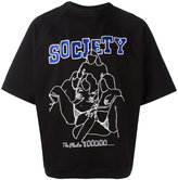 Kokon To Zai embroidered society raglan T-shirt - unisex - Cotton - S
