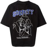 Kokon To Zai embroidered society raglan T-shirt - unisex - Cotton - S