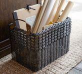 Pottery Barn Aster Woven Rectangle Basket