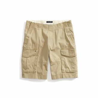 Tommy Hilfiger Men's Adaptive Seated Fit Cargo Shorts with Elastic Waist Adjustable Closure