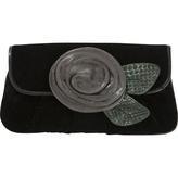 Marc Jacobs Black Velvet Clutch bag