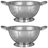 John Lewis Stainless Steel 18 and 24cm Colanders, Set of 2, Silver