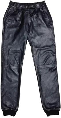 N. Mr & Mrs Furs \N Black Leather Trousers