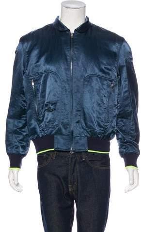 Marc Jacobs Satin Bomber Jacket