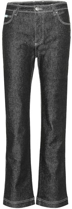 ALEXACHUNG Mid-rise jeans