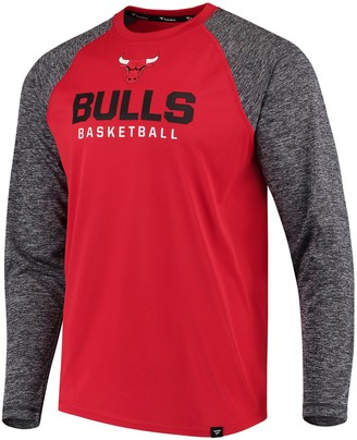 Men's Fanatics Branded Red Chicago Bulls Static Long Sleeve T-Shirt