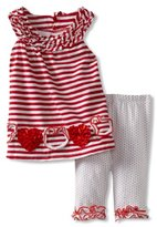 Bonnie Baby Girls Infant Red Stripe L...