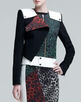 Roland Mouret Durango Leopard-Jacquard Jacket
