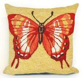 "Butterfly 18"" Square Outdoor Pillow"