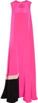 Roksanda Alisha crepe-paneled silk-blend satin gown