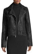 Splendid Bonded French Terry Zip-Front Biker Jacket