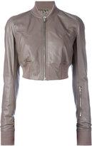 Rick Owens Glitter flight bomber jacket - women - Cotton/Cupro - 40