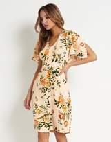 Closet Floral Frill Sleeve Dress