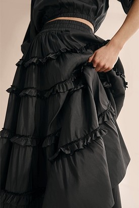 Country Road Silk Tiered Skirt