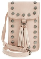 BP Studded Phone Crossbody Bag - Pink