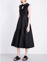 Sportmax Carola circle-detail cotton and silk-blend dress